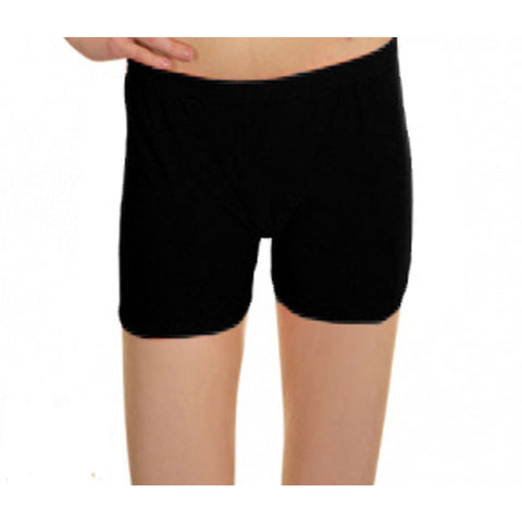 Black Lycra Microfiber Girls Hot Pants