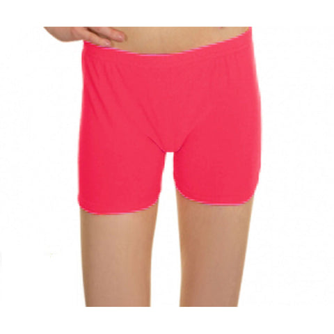 Neon Pink Lycra Microfiber Girls Hot Pants