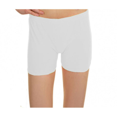 White Lycra Microfiber Girls Hot Pants