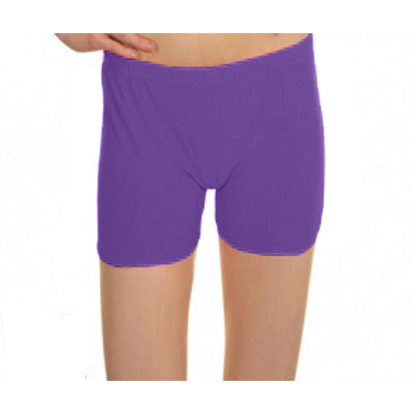 Purple Lycra Microfiber Girls Hot Pants