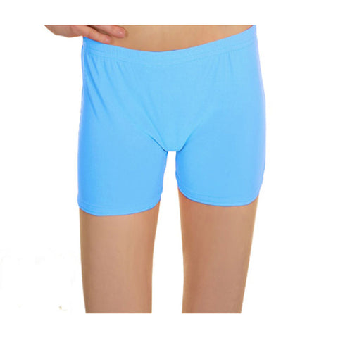 Turquoise Lycra Microfiber Girls Hot Pants