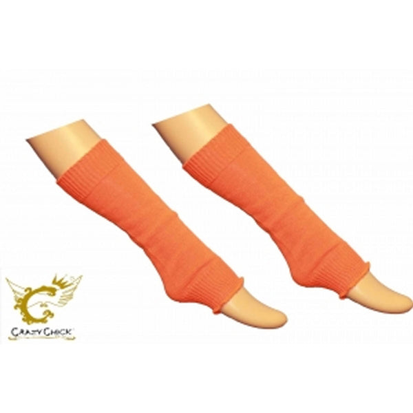 Crazy Chick Girls Plain Orange Leg Warmer