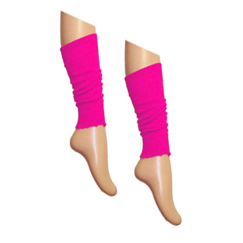 Crazy Chick Girls Neon Plain Pink Leg Warmer