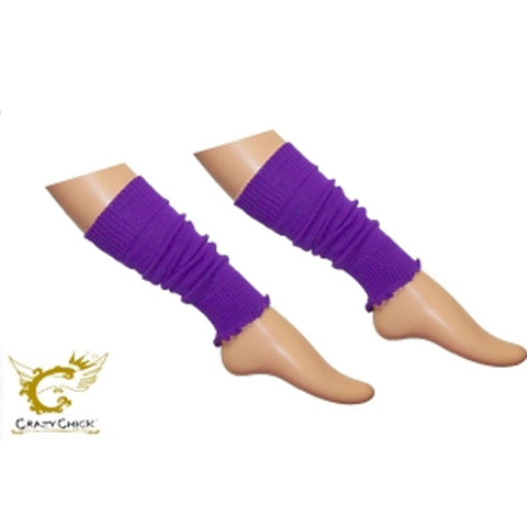 Crazy Chick Girls Plain Purple Leg Warmer