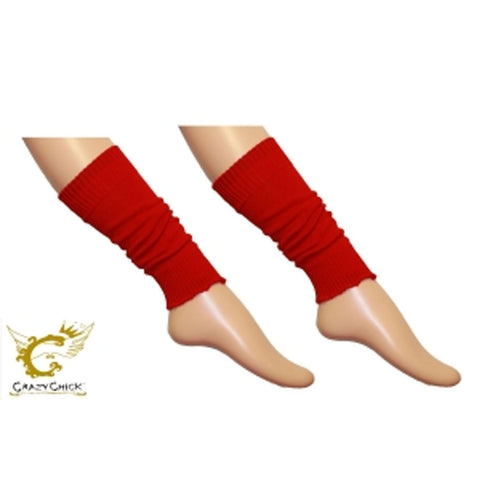 Crazy Chick Girls Plain Red Leg Warmer
