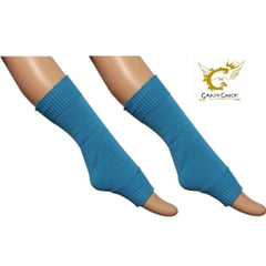Crazy Chick Girls Plain Turquoise Leg Warmer