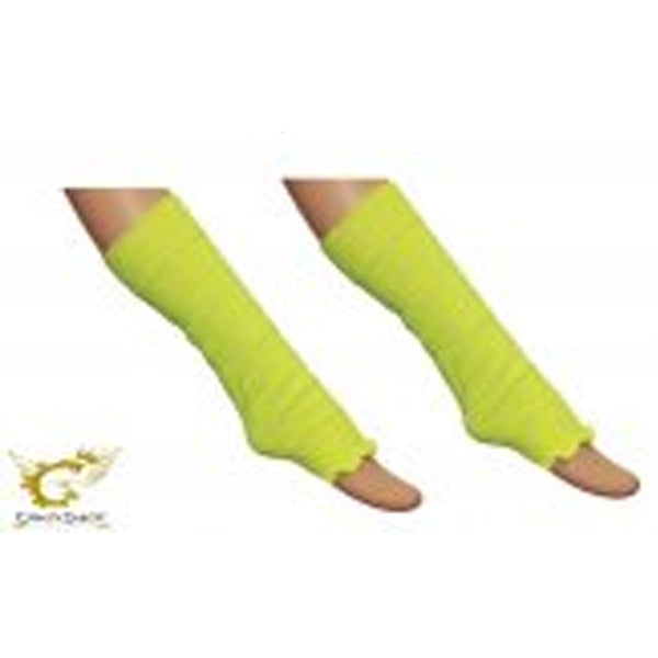 Crazy Chick Girls Yellow Plain Leg Warmer