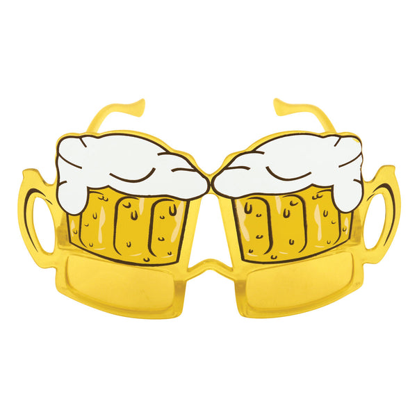 Adult Beer Yellow Lens Glasses Unisex Xmas Book Day Fancy Dress Party Accessory