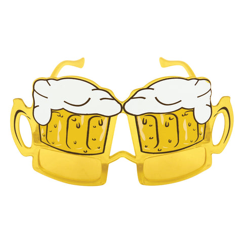 Adult Beer Yellow Lens Glasses Party Accessory