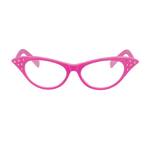 Unisex Dame Pink Frame Glasses With Clear Lens Adult Novelty Party Accessory