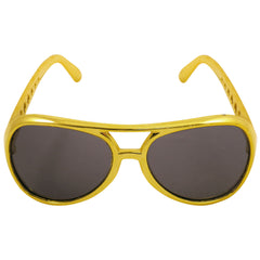 Unisex Novelty Gold Neon Glasses With Dark Lens Adult Party Accessory