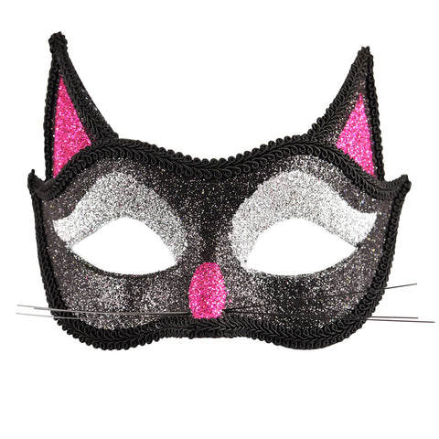 Adults Halloween Horror Cat Glitter Eye Mask Unisex Cosplay Party Accessory
