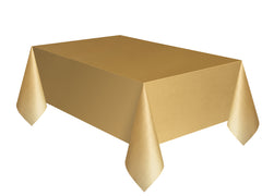 Gold Plain Table Cover 54 x 108 Inches