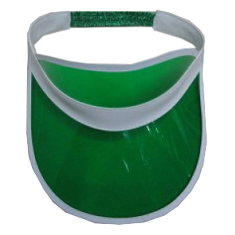 Unisex Green Poker Visor Hat Headband Cap For Golf Tennis Stag Party