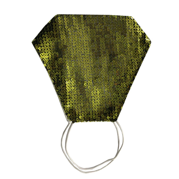 Green Sequin Face Mask With Filter Pocket