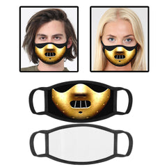 Hannibal Printed Cotton Face Mask With Filter Pocket