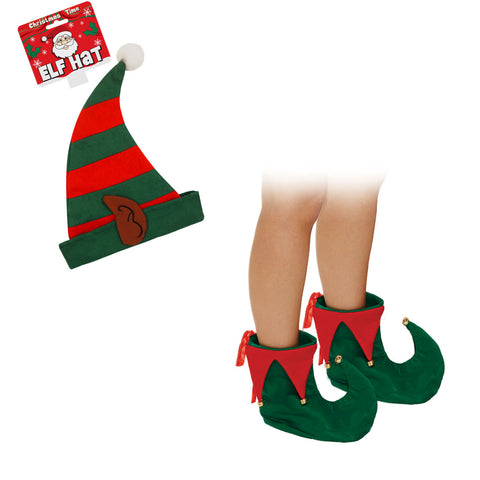Christmas Adult Deluxe ELF Shoes And Hat Set