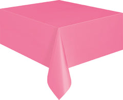 Hot Pink Plain Table Cover 54 x 108 Inches