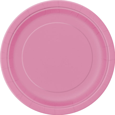 Plain Plates Hot Pink 9 Inches (Pack of 16)