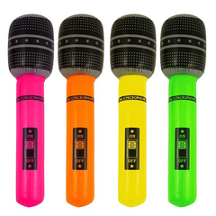 Inflatable Microphone 40 cm Assorted Colors