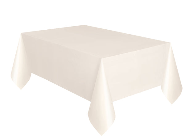Ivory Plain Table Cover 54 x 108 Inches