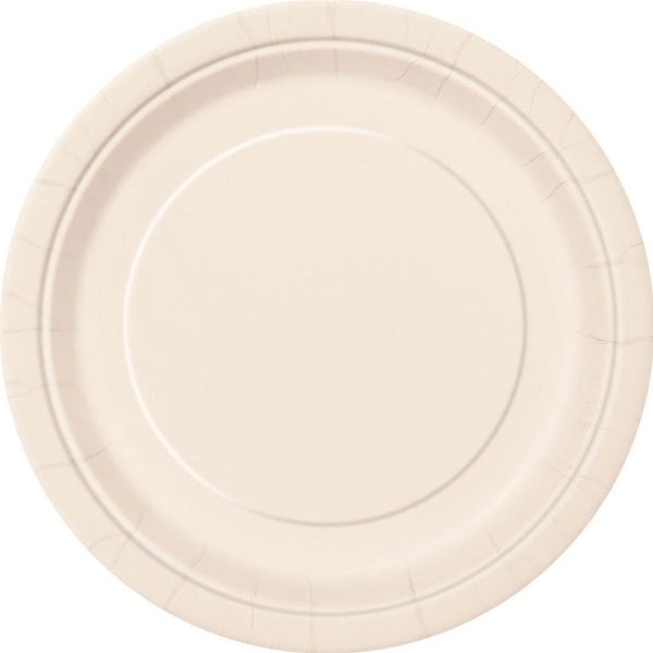 Plain Plates Ivory 9 Inches (Pack of 16)