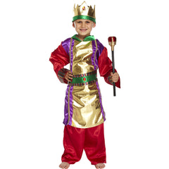 Children's King Christmas Nativity School Play Xmas Fancy Dress Kids Costume