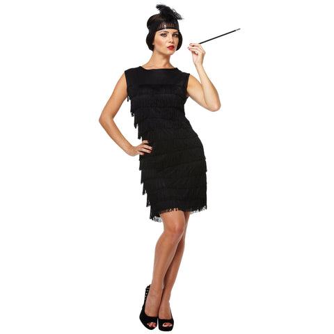 Ladies 1920s Flapper Charleston Costume Gangster Fancy Dress Outfit