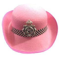 Women Pink Police Hat Ladies Hen Nights Stag Party Fancy Dress Costume Accessory