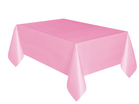 Lovely Pink Plain Table Cover 54 x 108 Inches