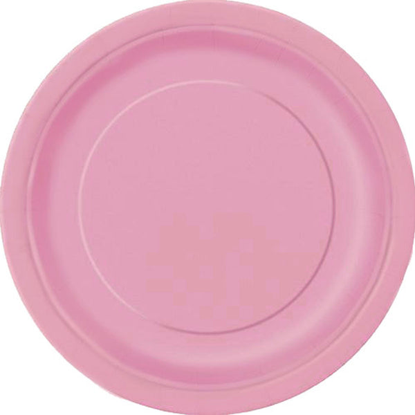 Plain Plates Lovely Pink 9 Inches (Pack of 16)