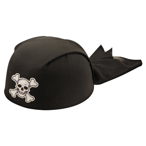 Black Hat Bandana Pirate Adult (20cm)
