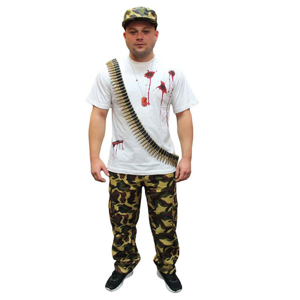 Unisex Camouflage Trousers Army Military Fancy Dress Costume