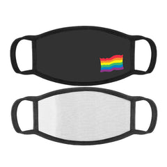 Mini Rainbow Flag Printed Cotton Face Mask With Filter Pocket