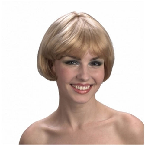 Womens Super Model Blonde Wig Ladies Fashion Stylish Fancy Dress Accessory