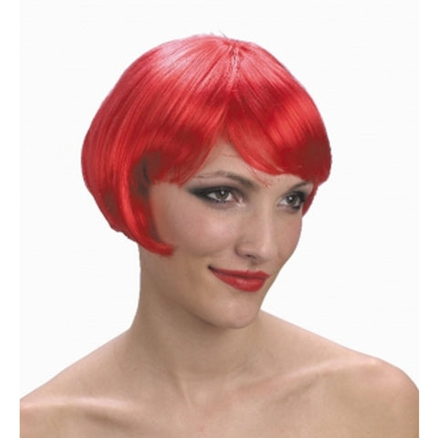 Womens Super Model Red Wig Ladies Fashion Stylish Fancy Dress Accessory