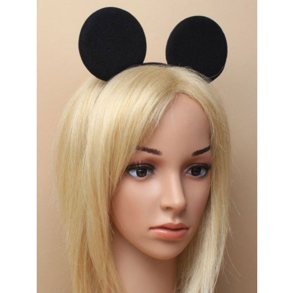 Mouse Ears Black Aliceband Fancy Dress Headband