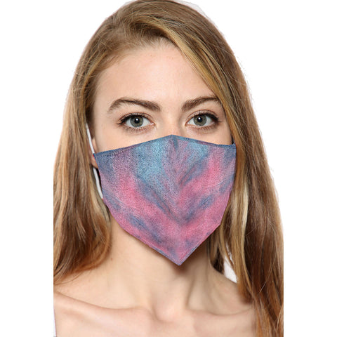 Multicolor Printed Face Mask With Filter Pocket