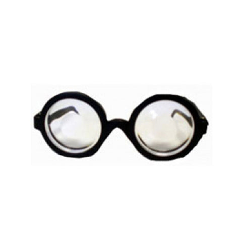Nerd Black Glasses With Lenses Round Thick Fancy Dress Geek Retro Joke Funny Accessory