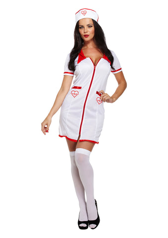 Female Sexy Nurse Doctor Dress Up Adult Costume Ladies Hen Do Fancy Dress Outfit