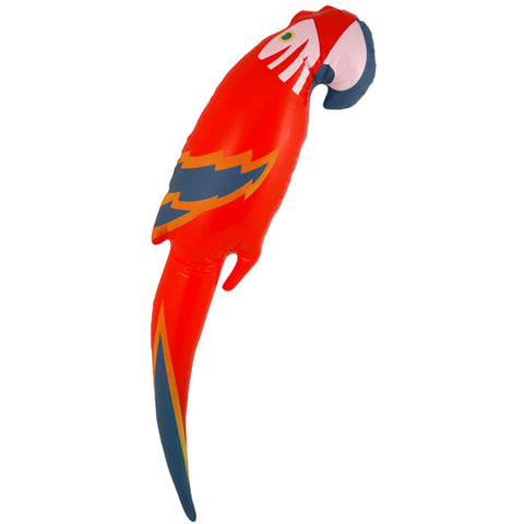 Inflatable Blow Up Parrot 48cm Toys Pirate Hawaiian Fancy Dress Party Accessory