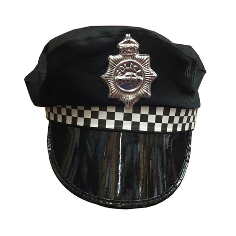 Adults Policeman Fancy Dress Cap Hat Police Cop Costume Accessory