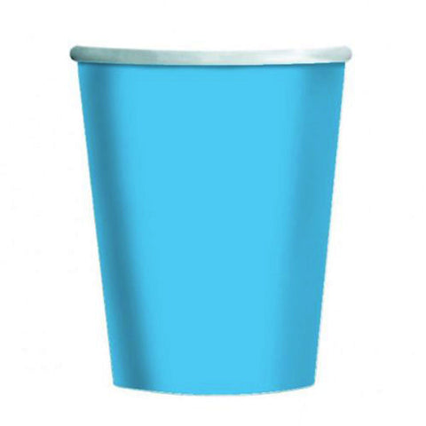 Powder Blue Plain Cups 9 Oz (Pack of 14)