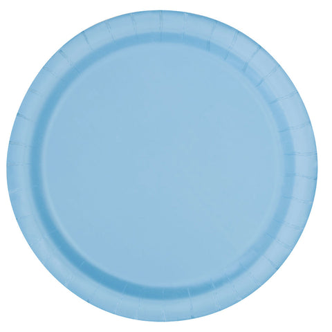 Plain Plates Powder Blue 9 Inches (Pack of 16)