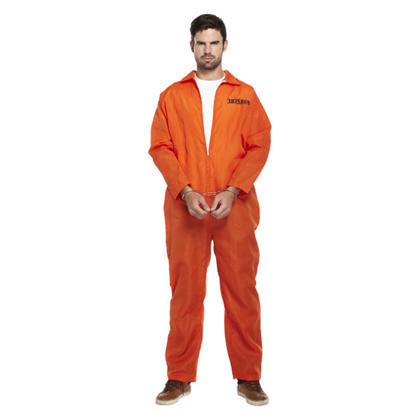 Adult Prisoner Orange Overall Costume