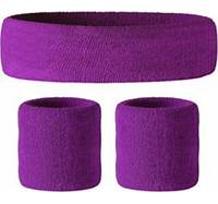 Toweling Wristbands and Headbands Set