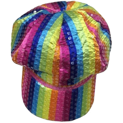Rainbow Baker Boy Cap Gay Pride Fancy Dress Accessory