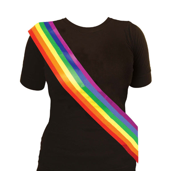 Rainbow Sash Gay Pride Fancy Dress Accessory