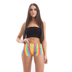 Rainbow Stripe Hot Pants Gay Pride Fancy Dress