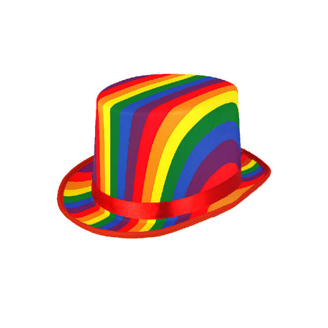 Rainbow Topper Hat Gay Pride Fancy Dress Accessory
